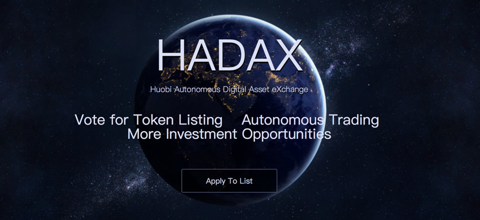 Huobi's New Project: Hadax